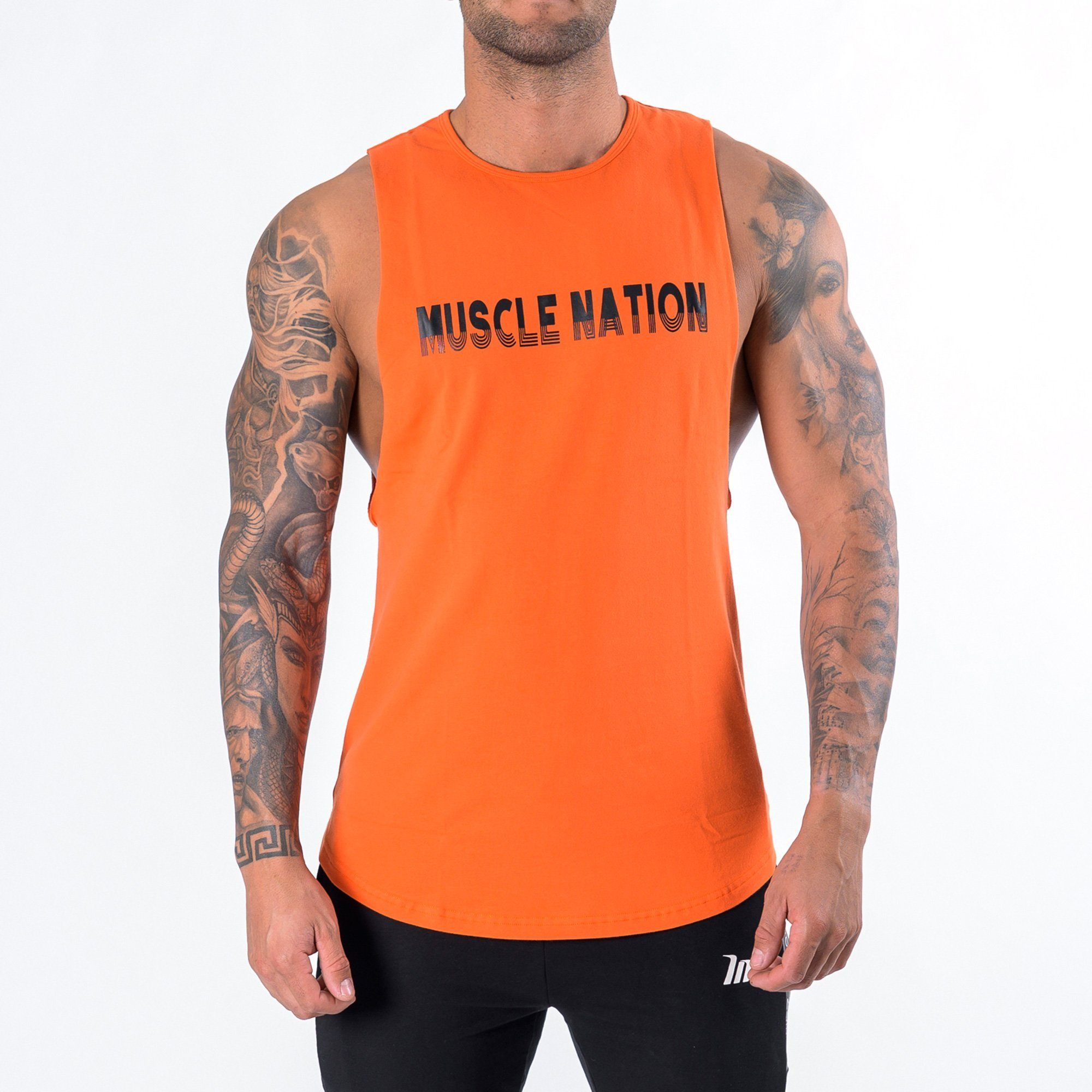 Muscle Nation Retro Tank - Orange