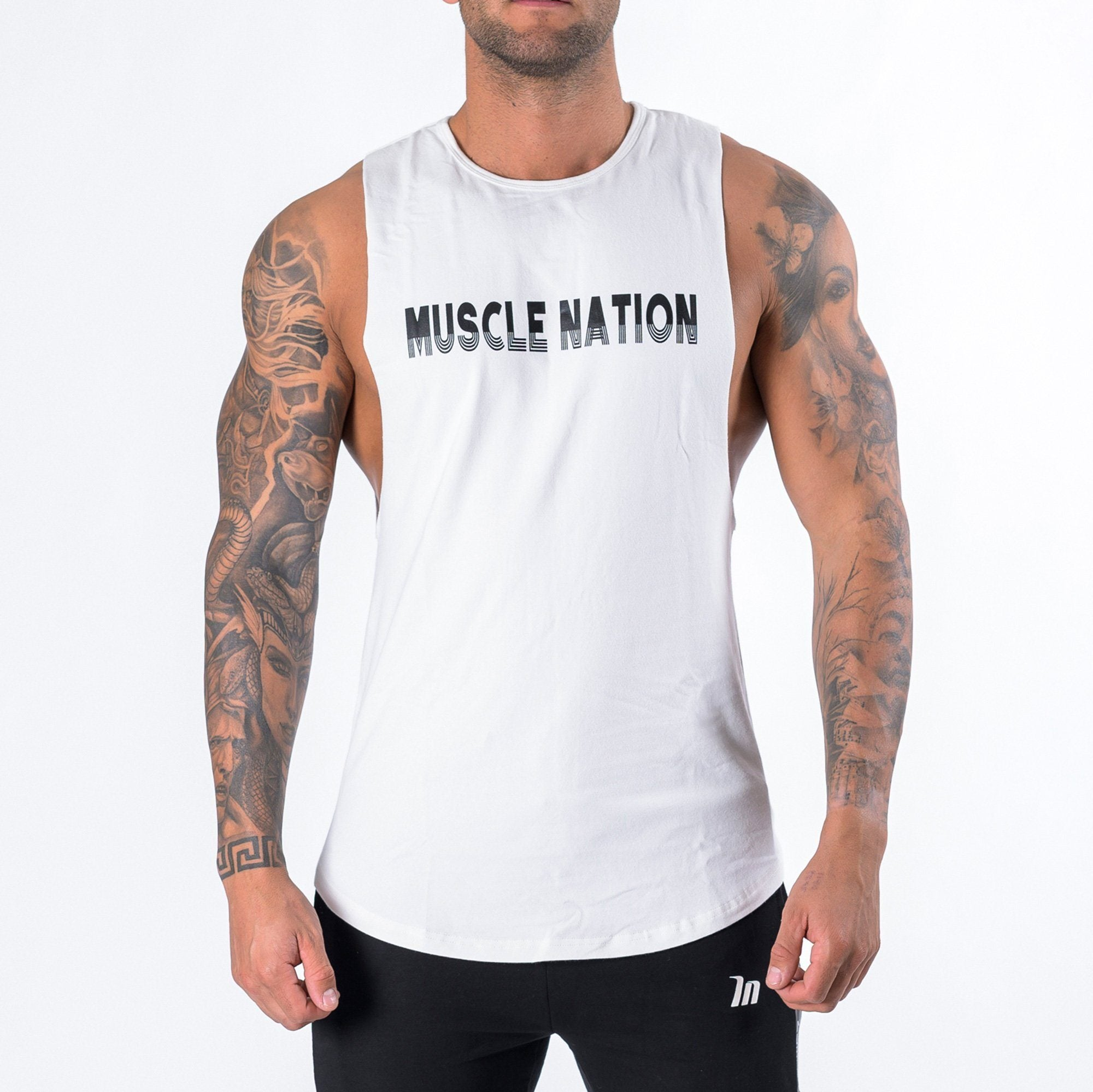Muscle Nation Retro Tank - White