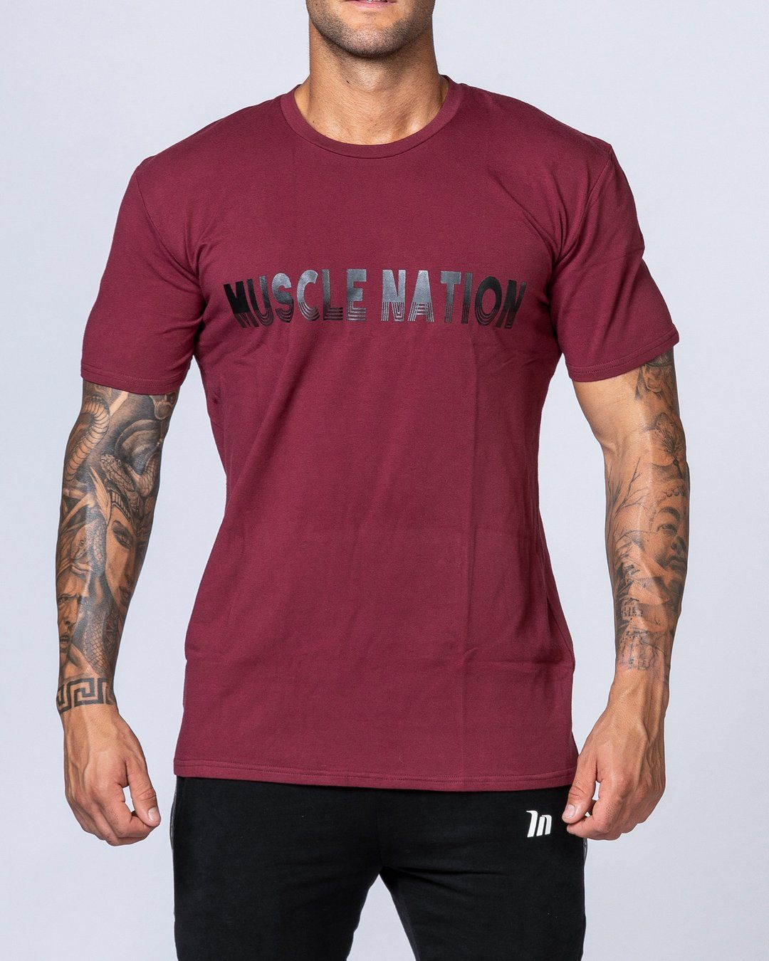 Muscle Nation Retro Tee - Burgundy