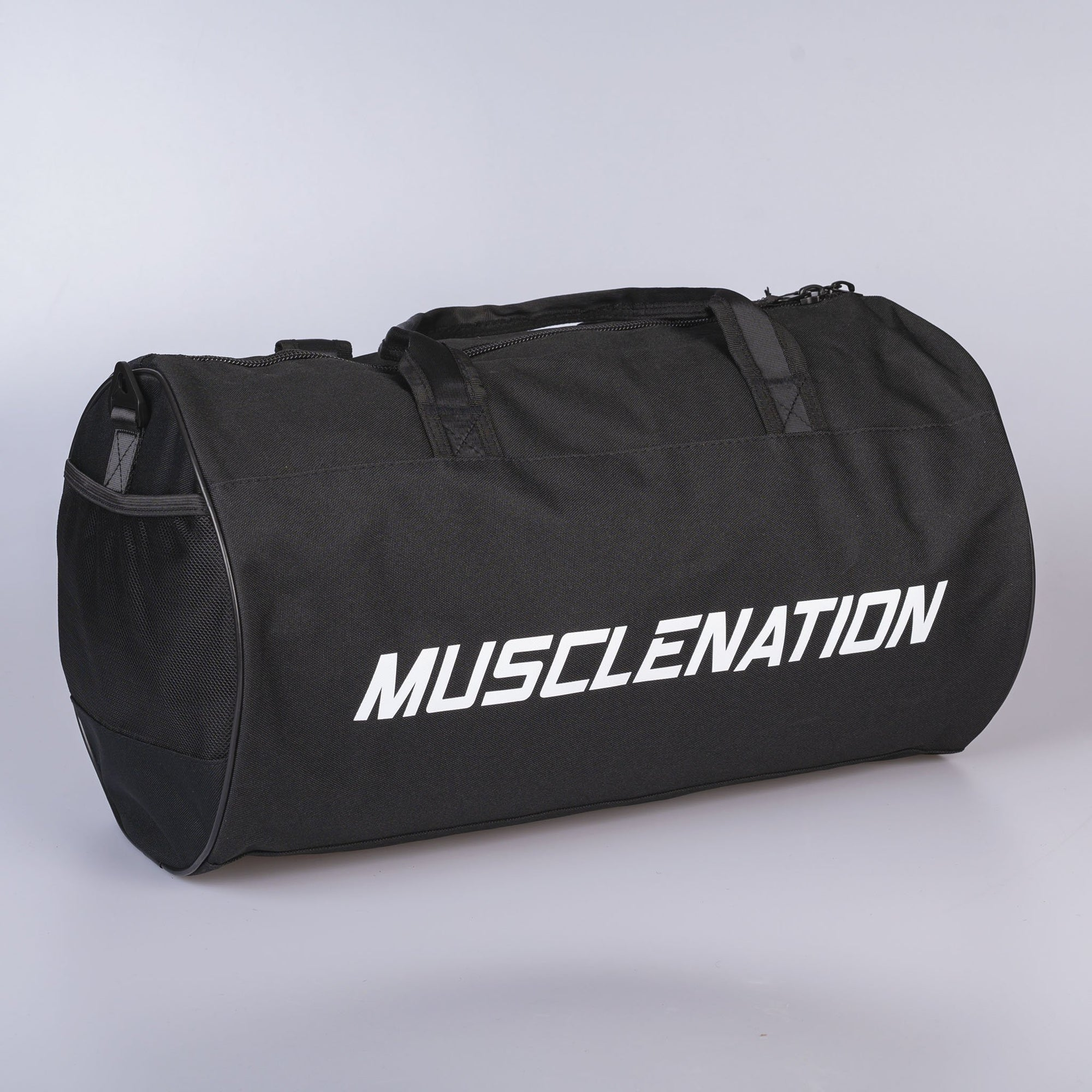 Muscle Nation Round Premium Gym Bag - Black