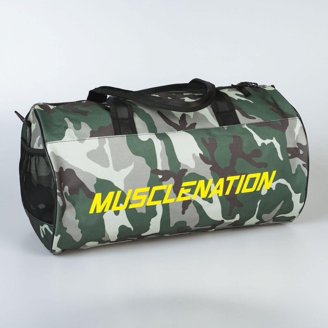 Muscle Nation Round Premium Gym Bag - Camo