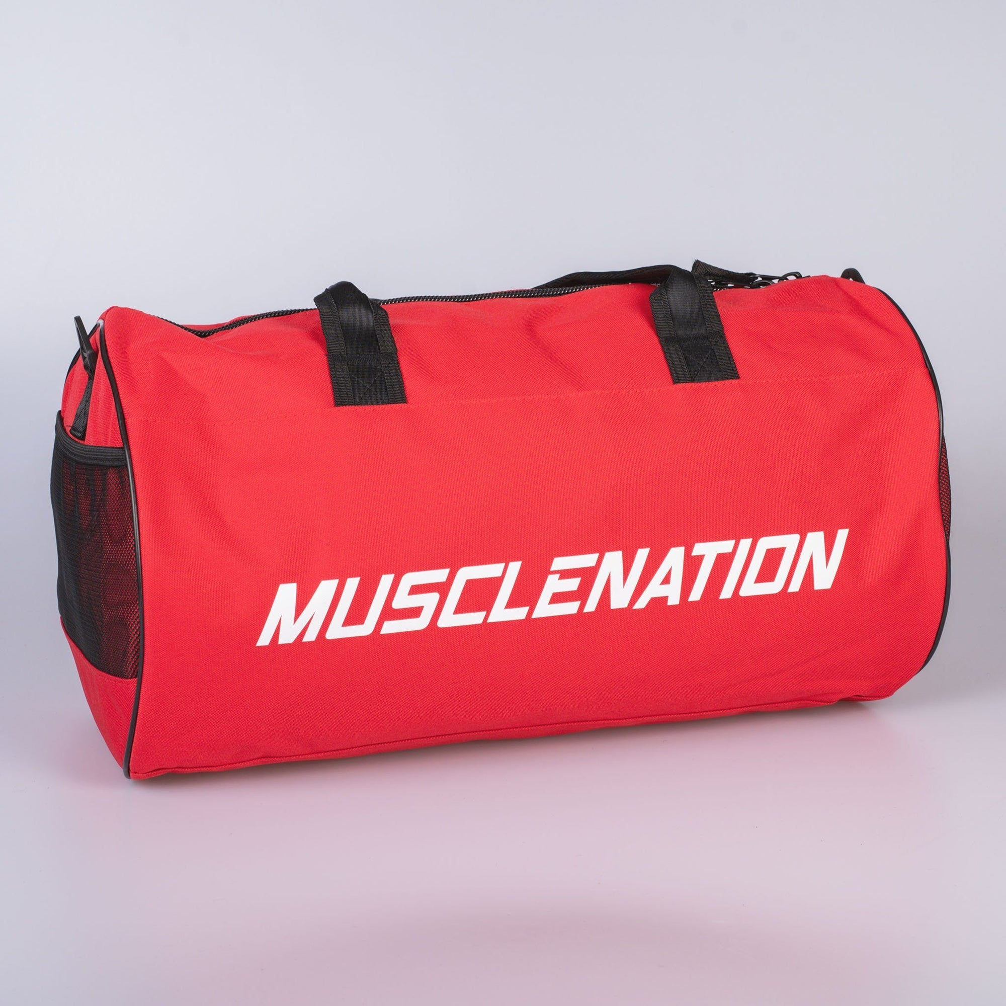 Muscle Nation Round Premium Gym Bag - Red