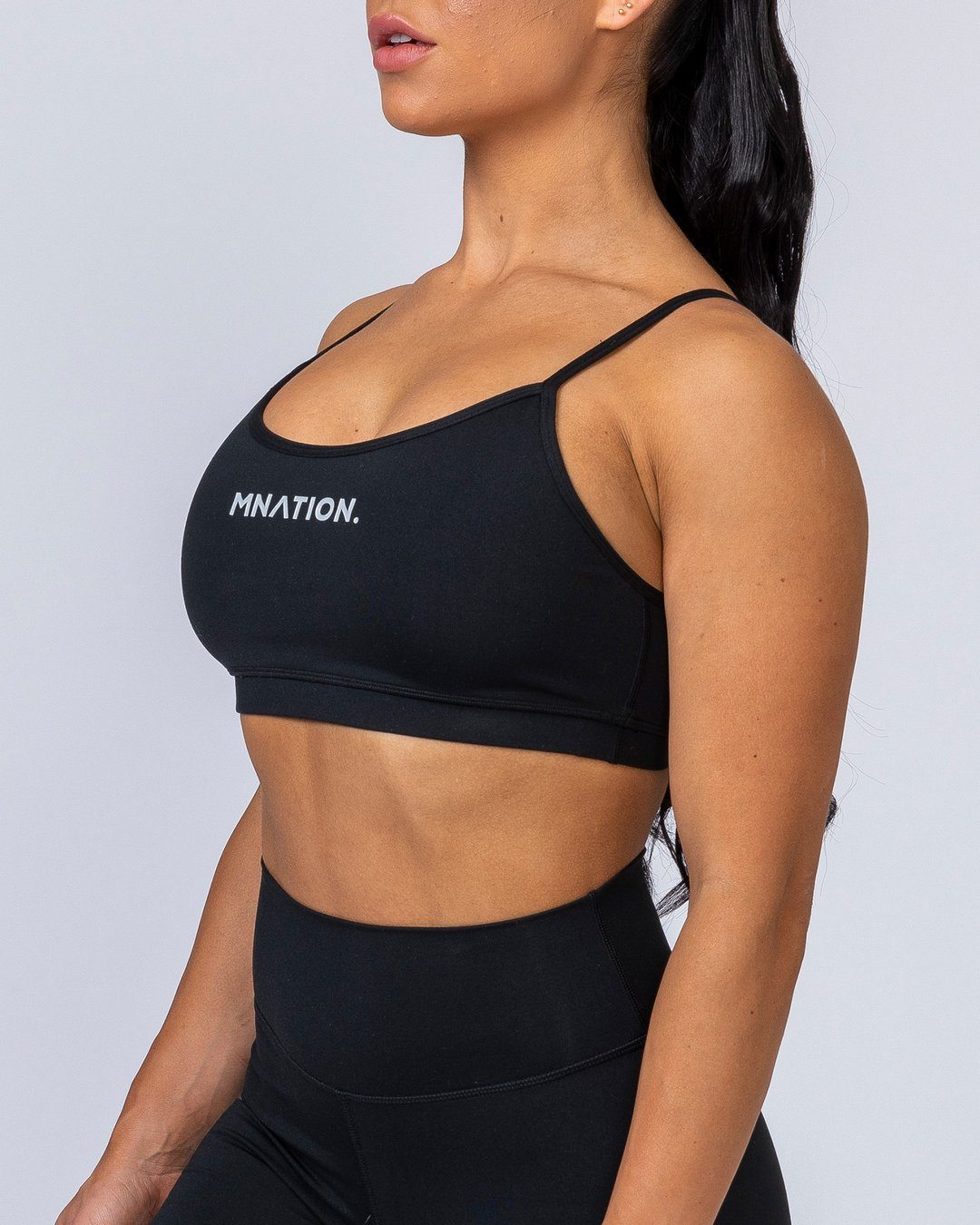 Muscle Nation Scoop Bra - Black
