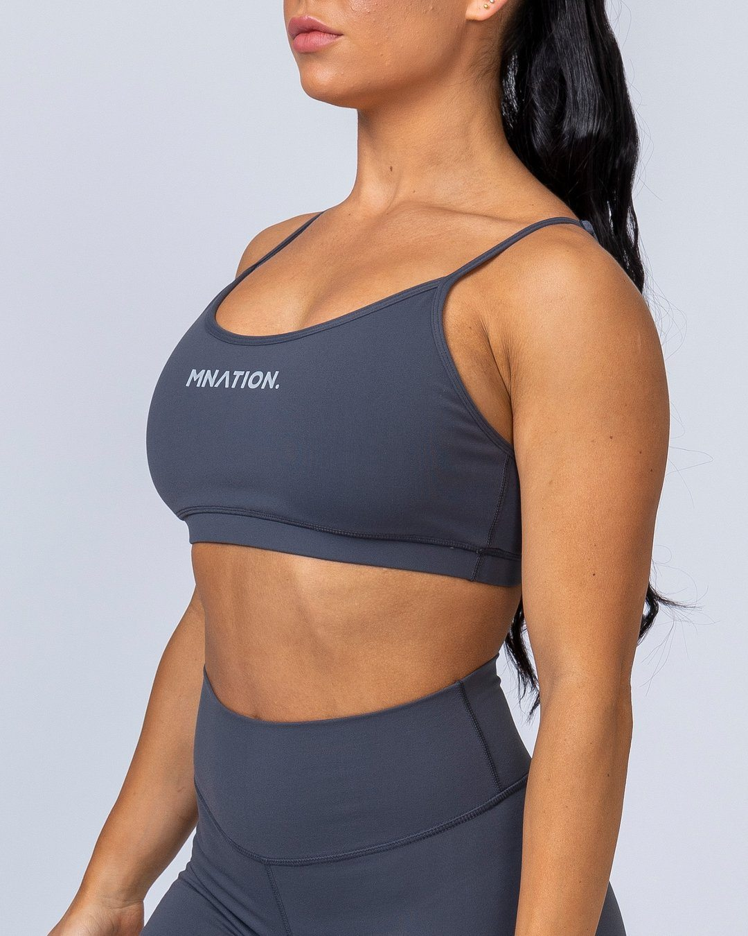 Muscle Nation Scoop Bra - Shadow Grey