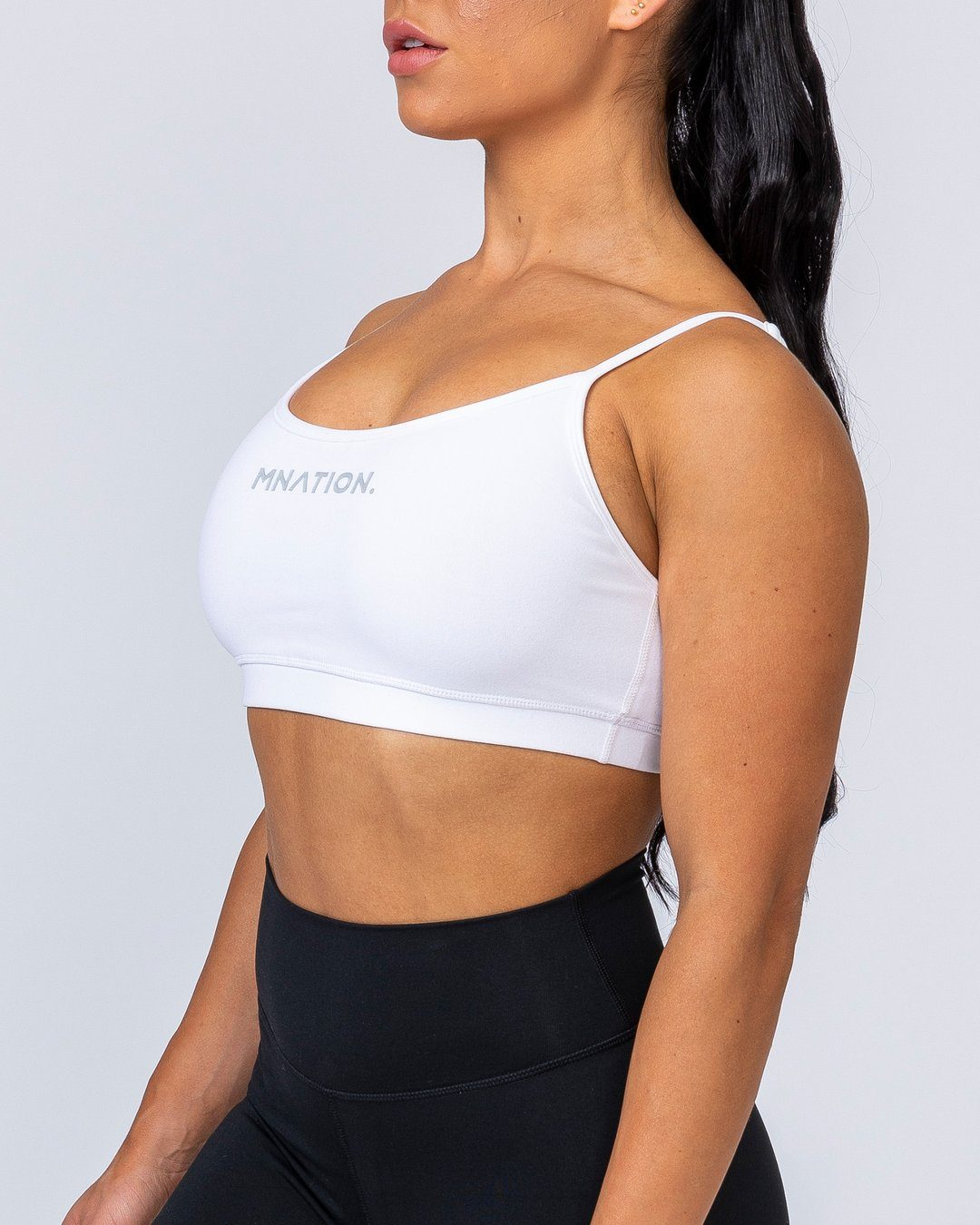 Muscle Nation Scoop Bra - White
