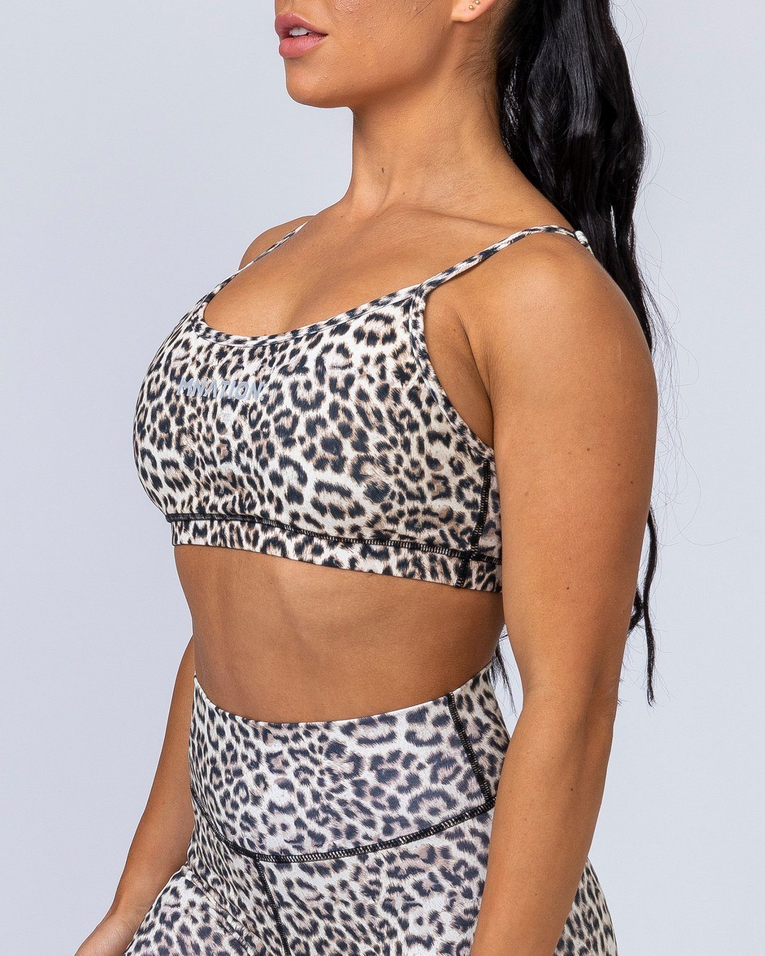 Muscle Nation Scoop Bra - Yellow Leopard