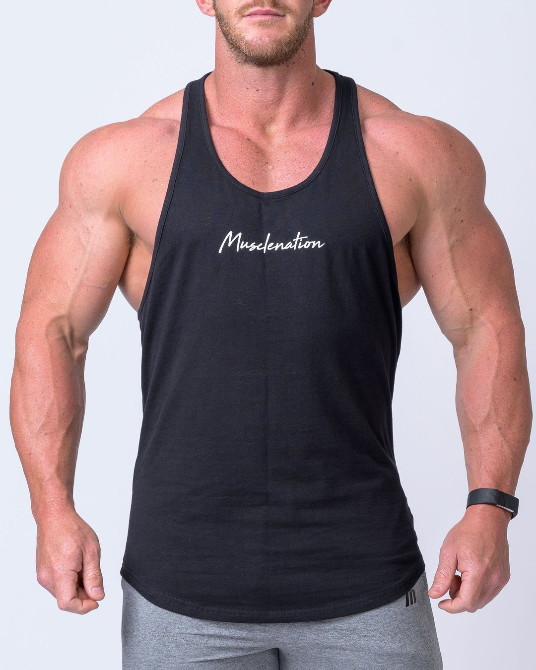 Muscle Nation Signature Y Back Singlet - Black