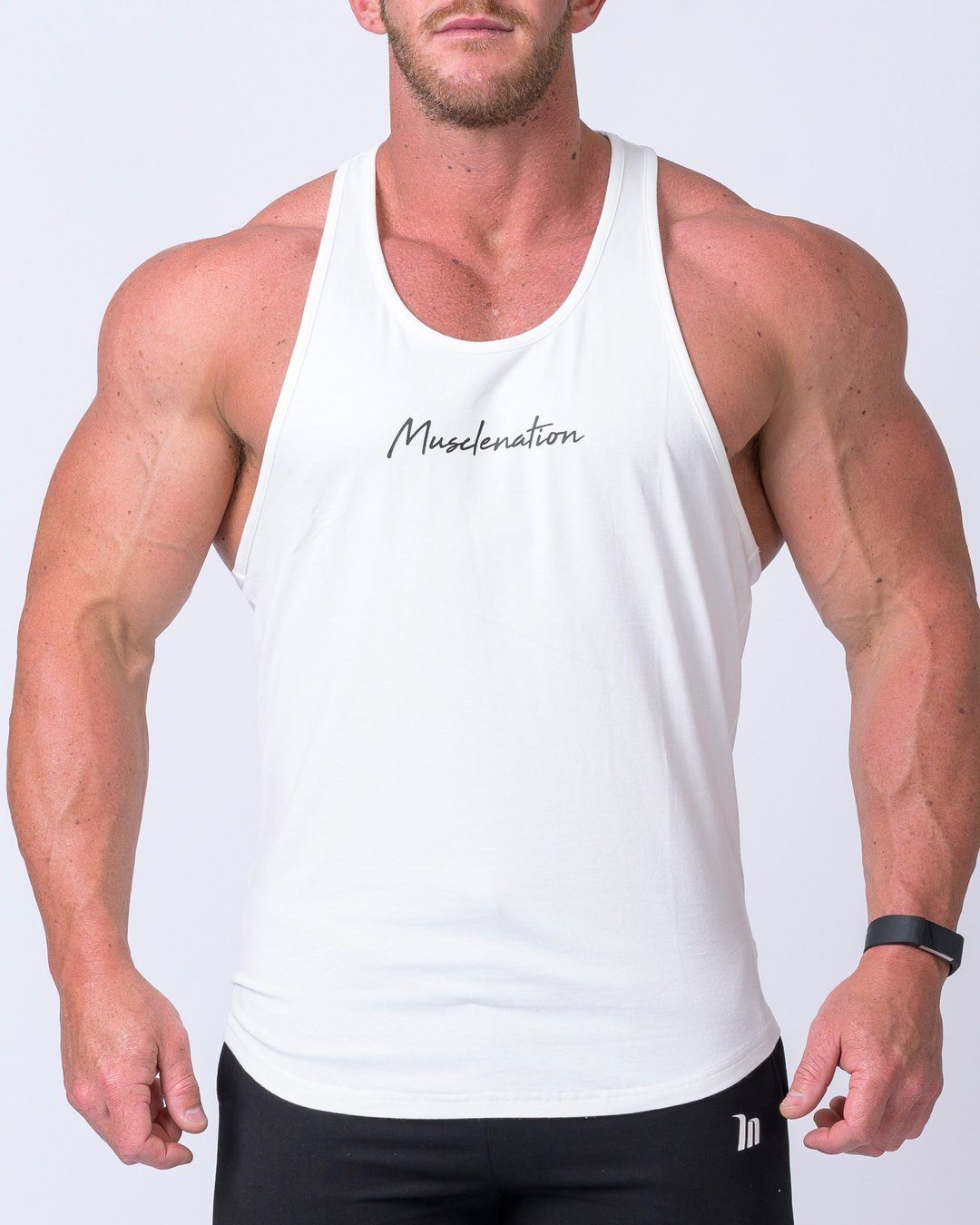 Muscle Nation Signature Y Back Singlet - White