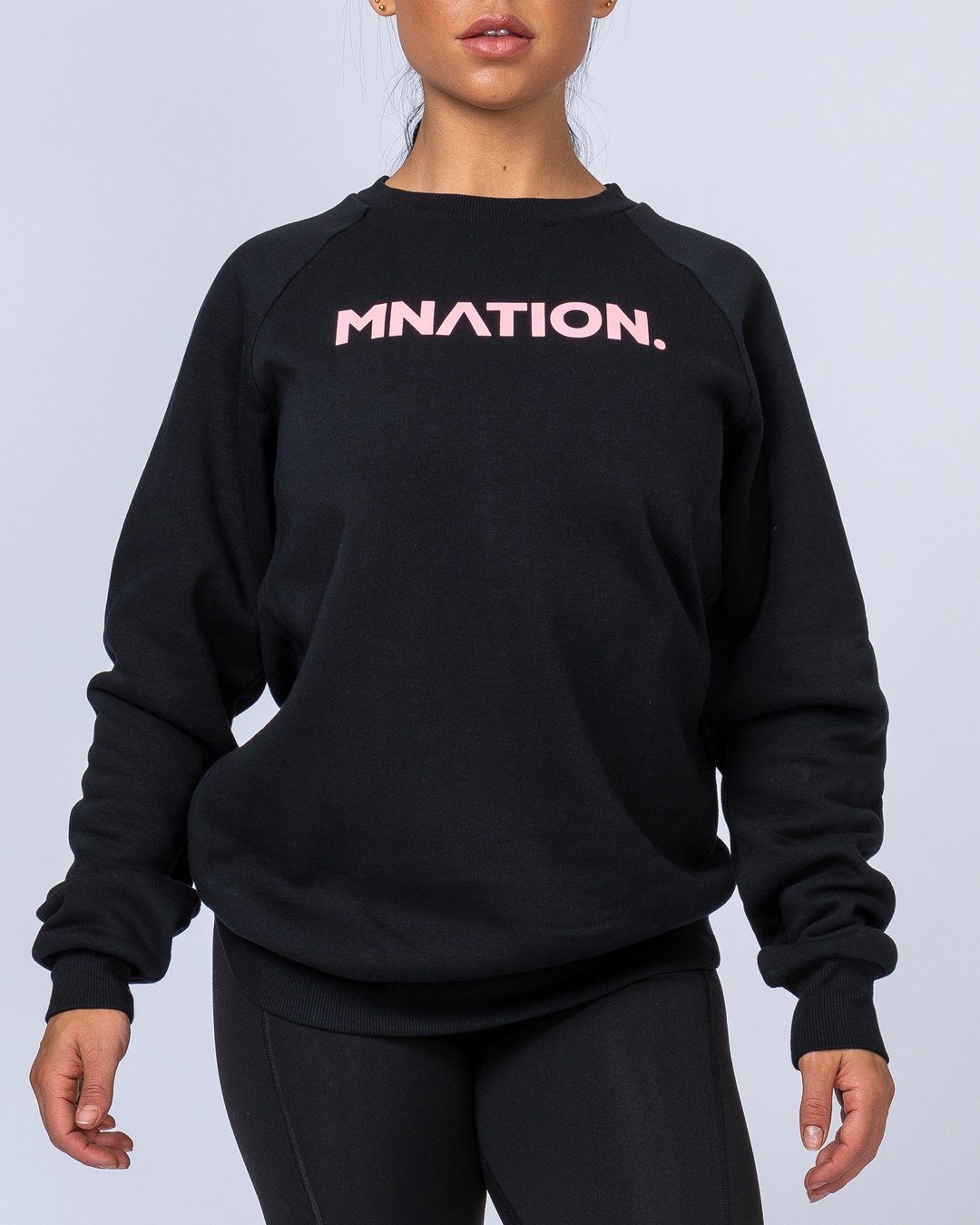 Muscle Nation Slouchy Jumper - Black