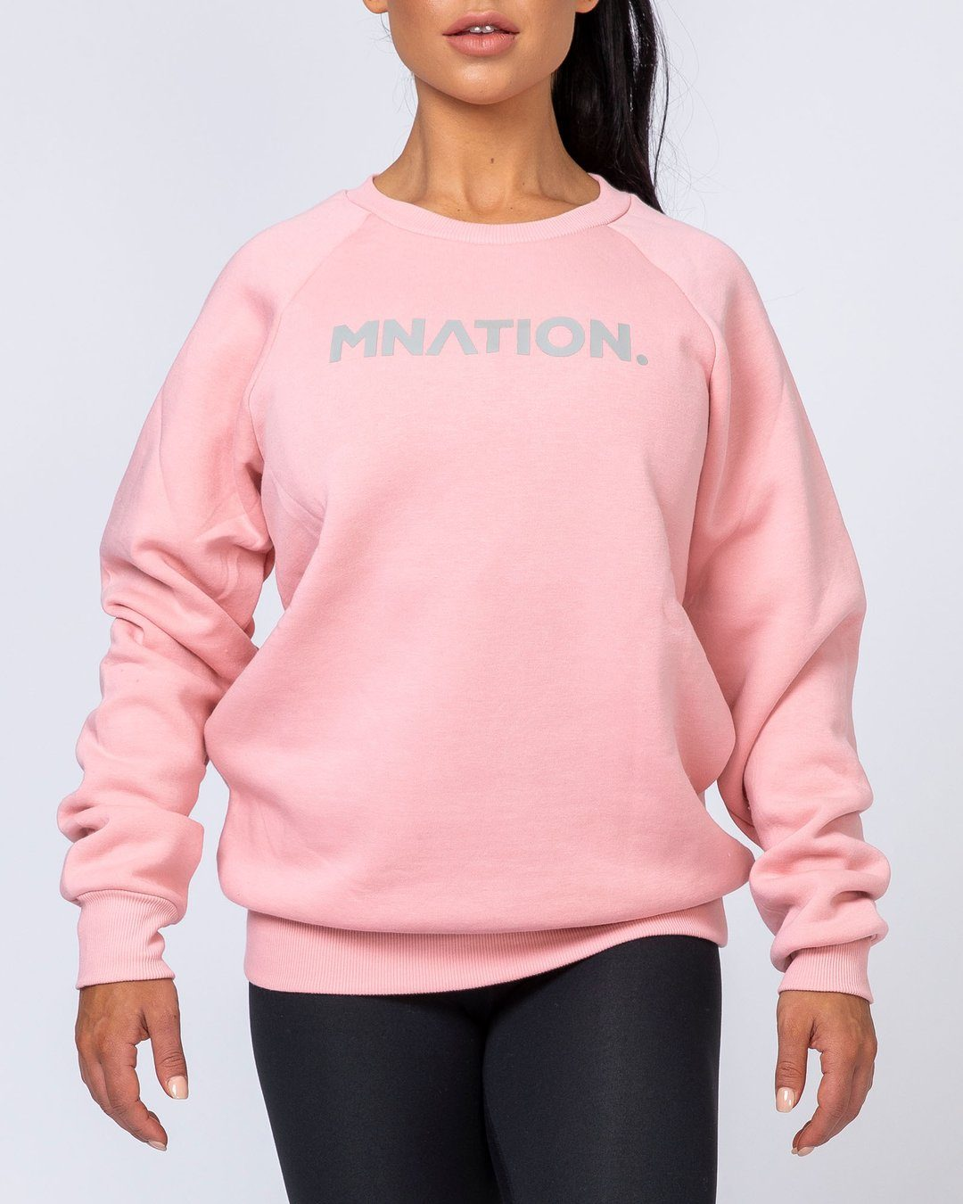 Muscle Nation Slouchy Jumper - Pink