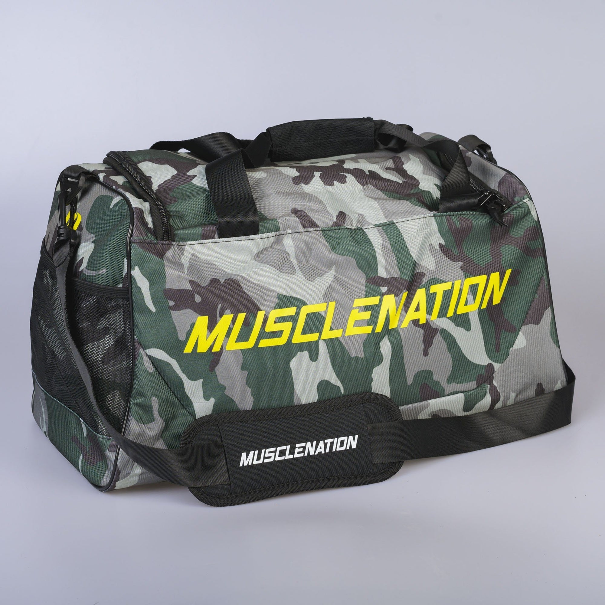 Muscle Nation Square Training Duffle Bag - Camo