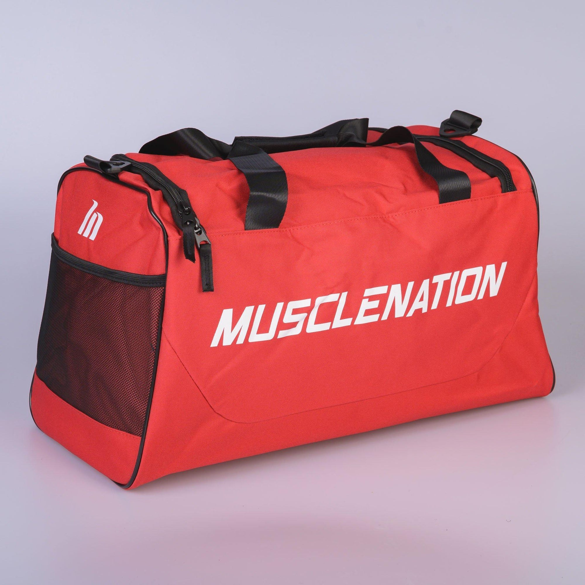 Muscle Nation Square Training Duffle Bag - Red
