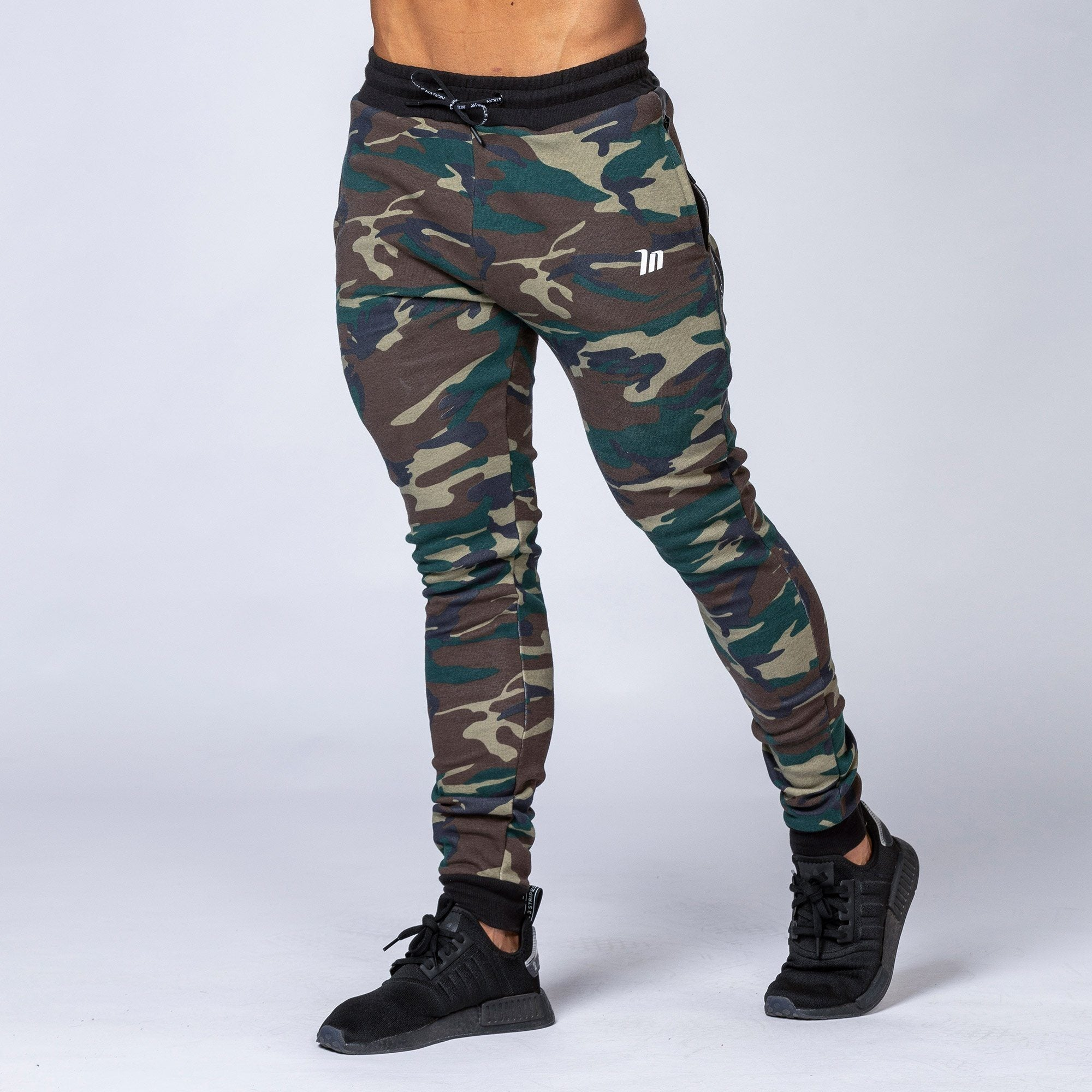 Muscle Nation Tapered Joggers - Camo