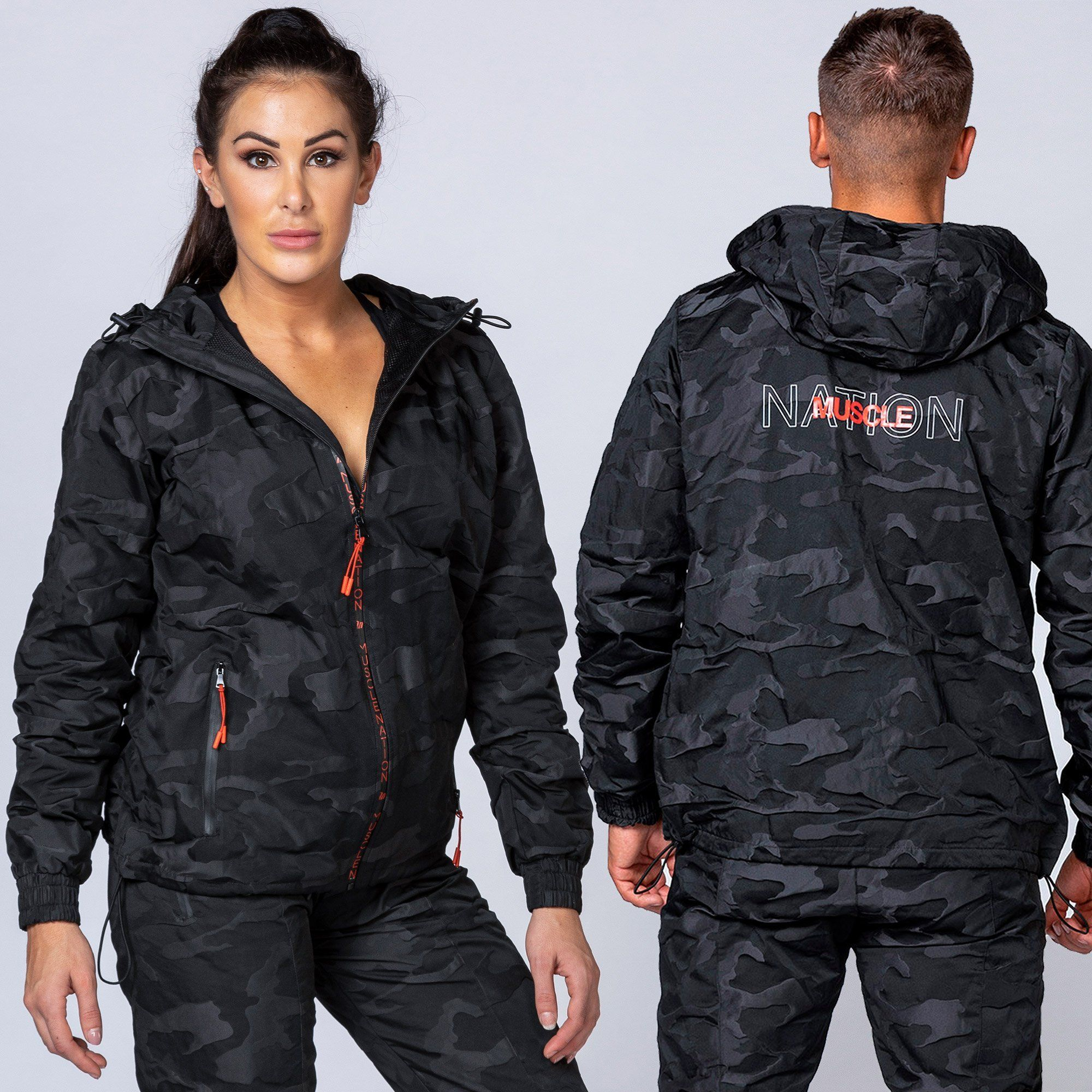 Muscle Nation Unisex Jacket - Black Camo
