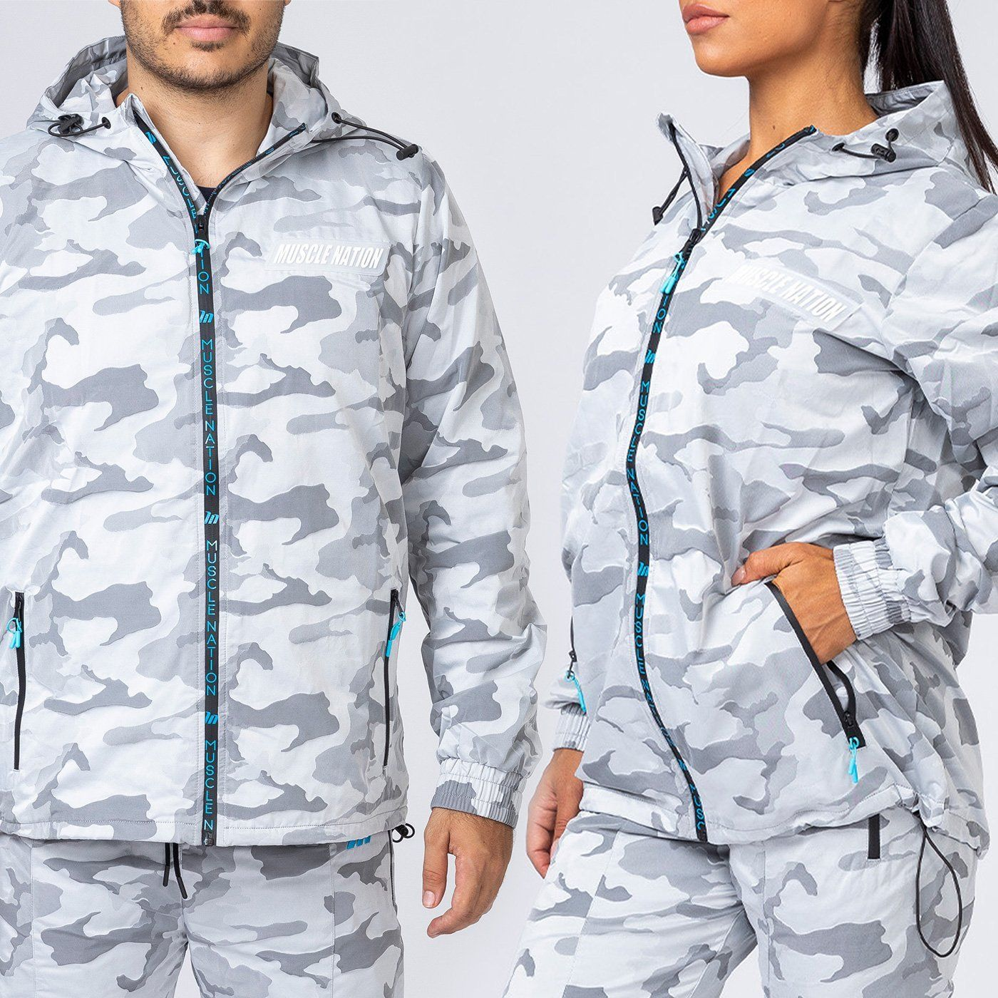 Muscle Nation Unisex Jacket - Snow Camo