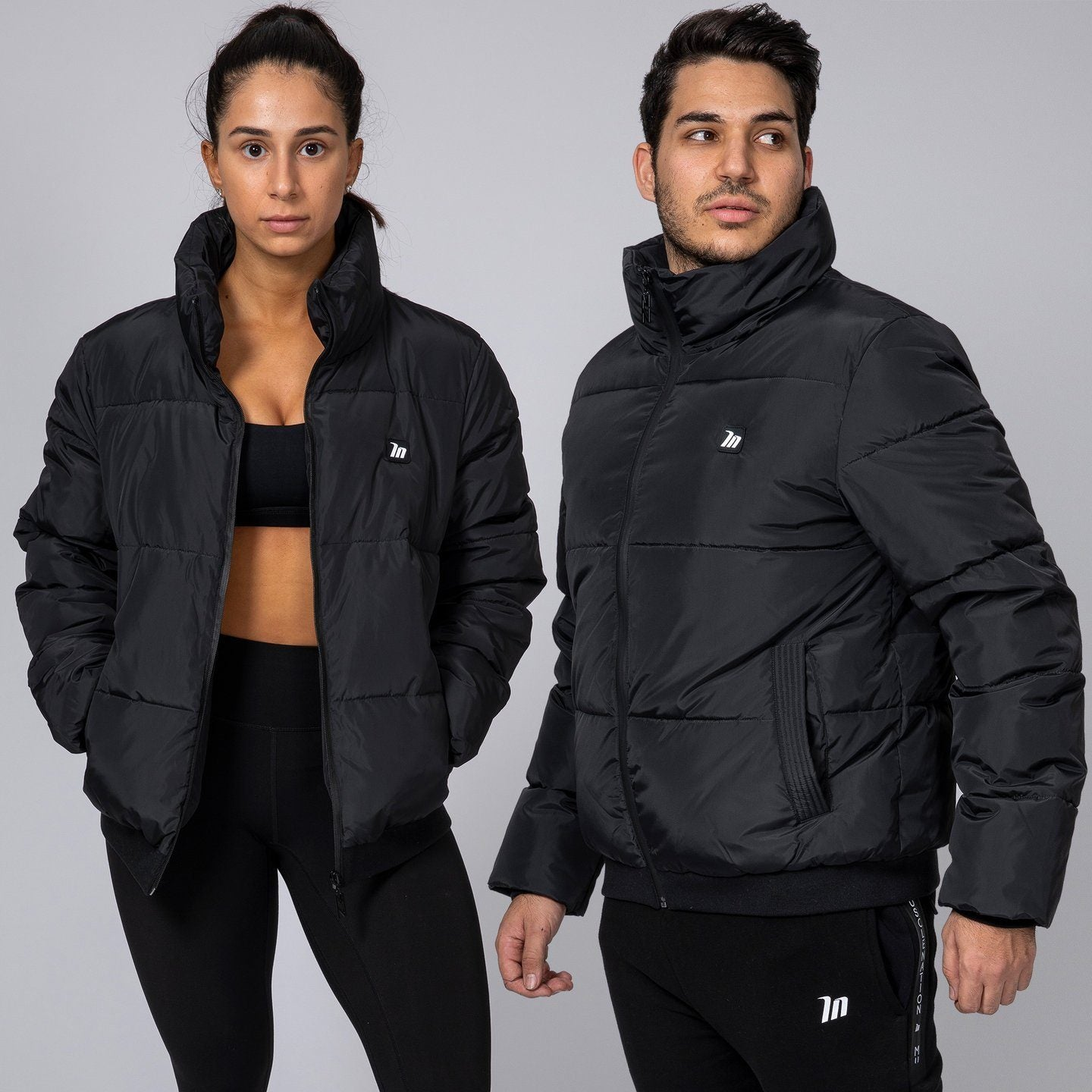 Muscle Nation Unisex Puffer Jacket - Black