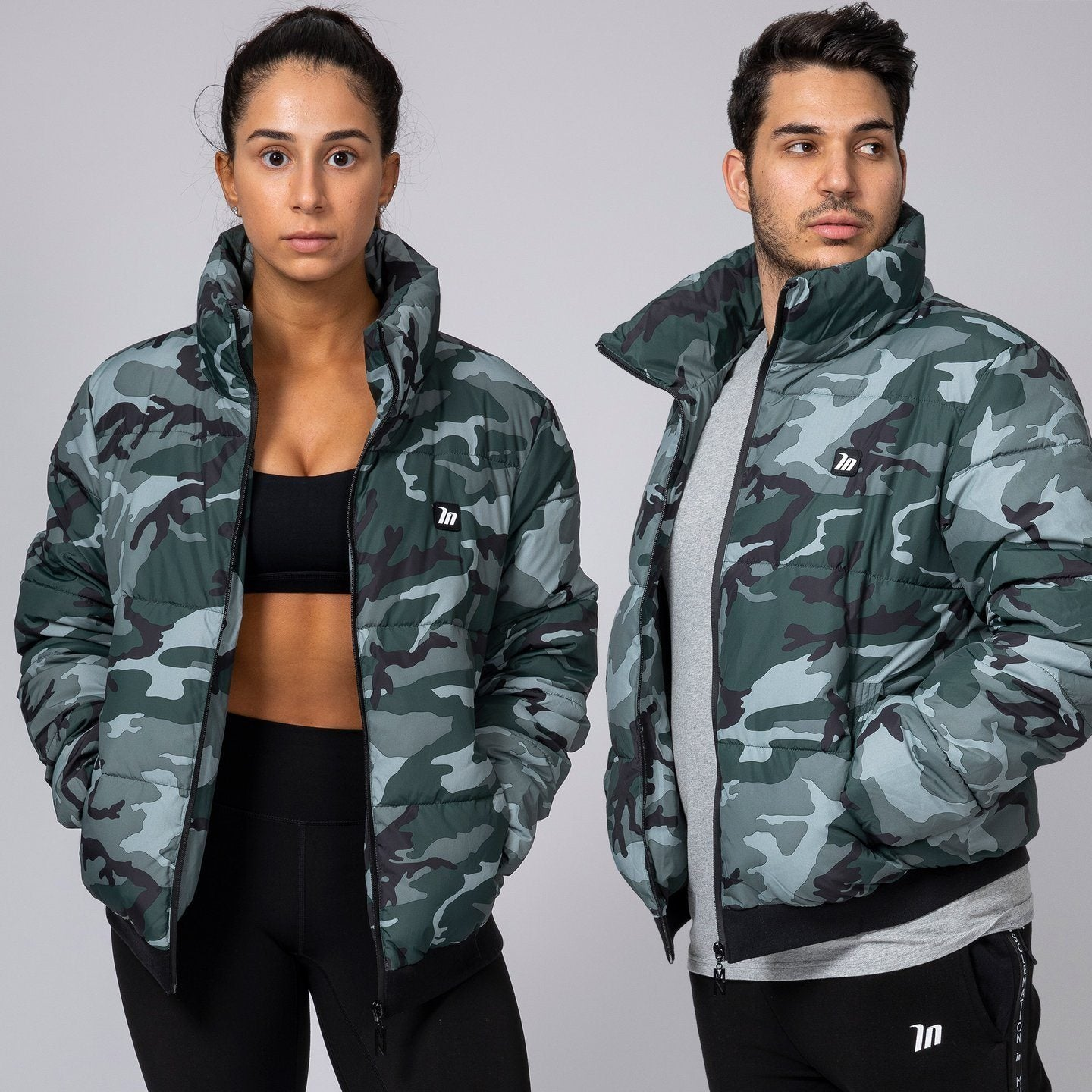 Muscle Nation Unisex Puffer Jacket - Camo