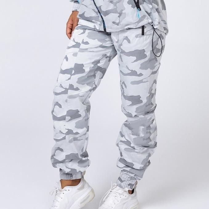 Muscle Nation Unisex Tracksuit Pants - Snow Camo