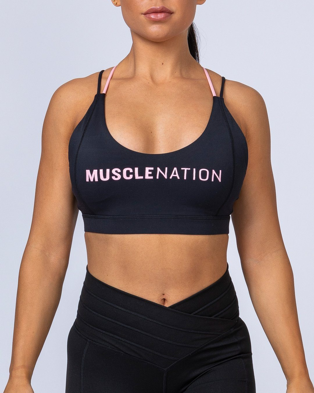 Muscle Nation Uppercut Bra - Black