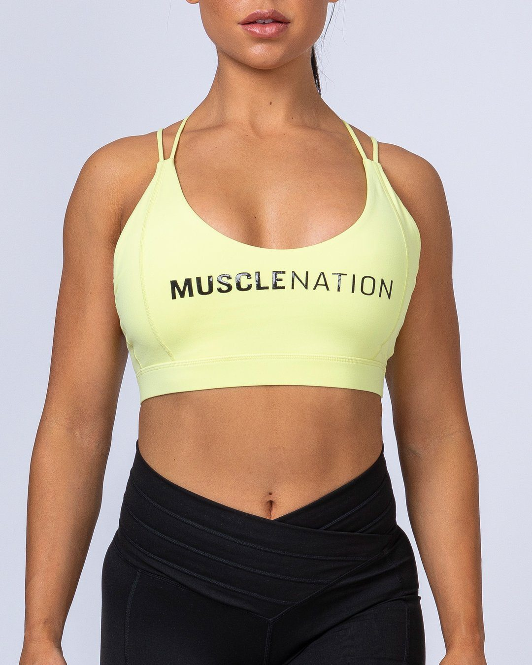 Muscle Nation Uppercut Bra - Lime