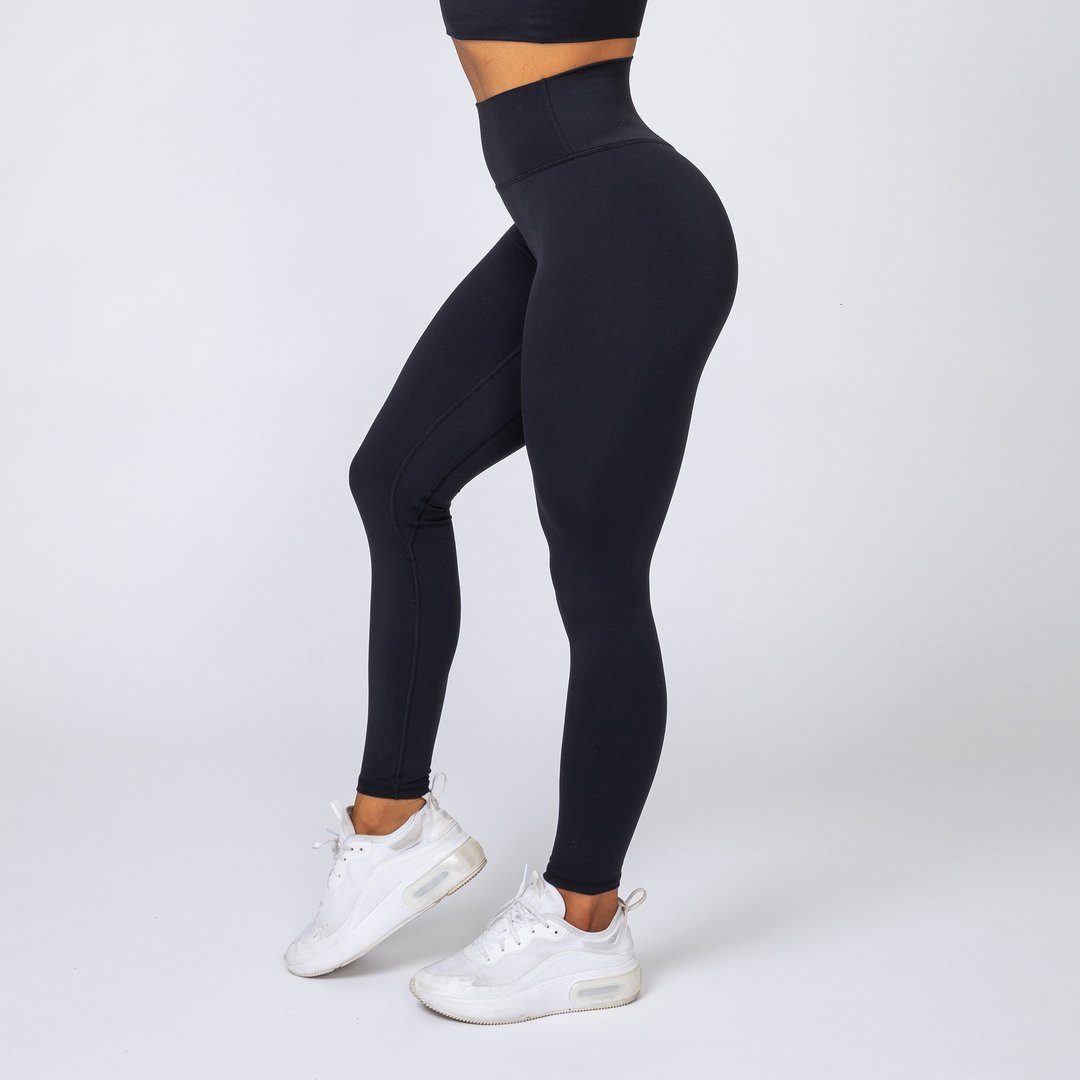 Muscle Nation v2 Butter Full Length High Waist Leggings - Black