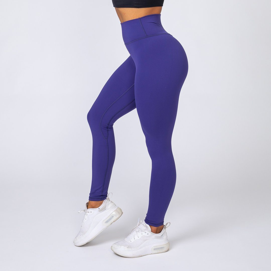 Muscle Nation v2 Butter Full Length High Waist Leggings - Indigo