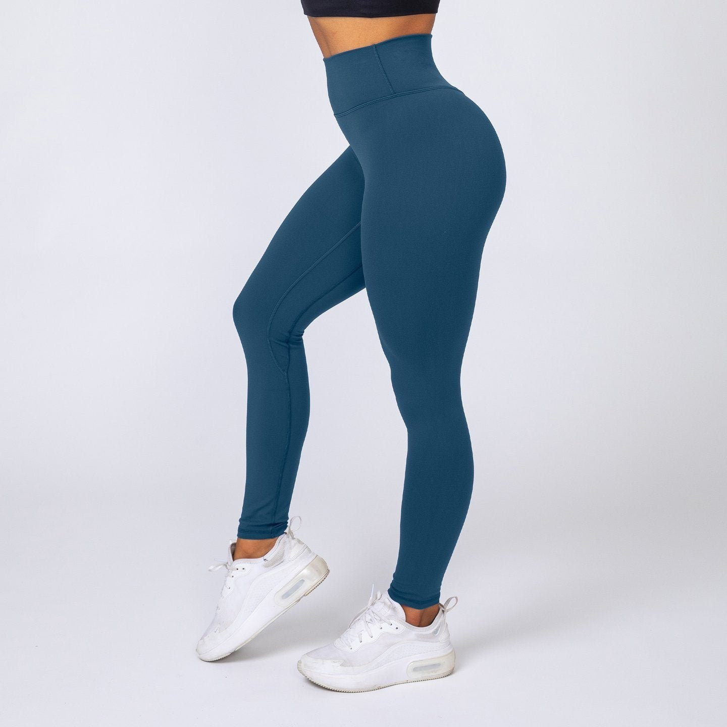 Muscle Nation v2 Butter Full Length High Waist Leggings - Marine