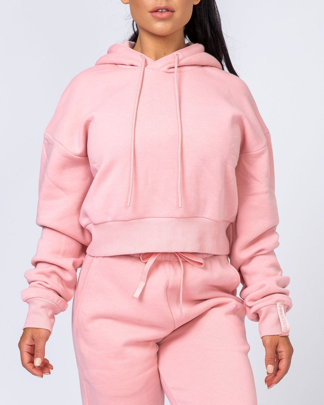 Muscle Nation Warm-Up Cropped Hoodie - Pink