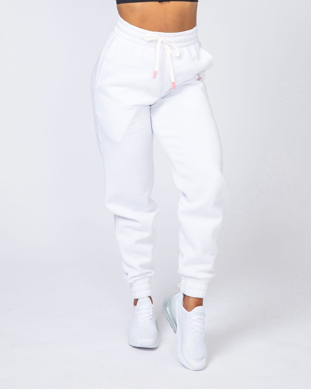 Muscle Nation Warm-Up Trackies - White