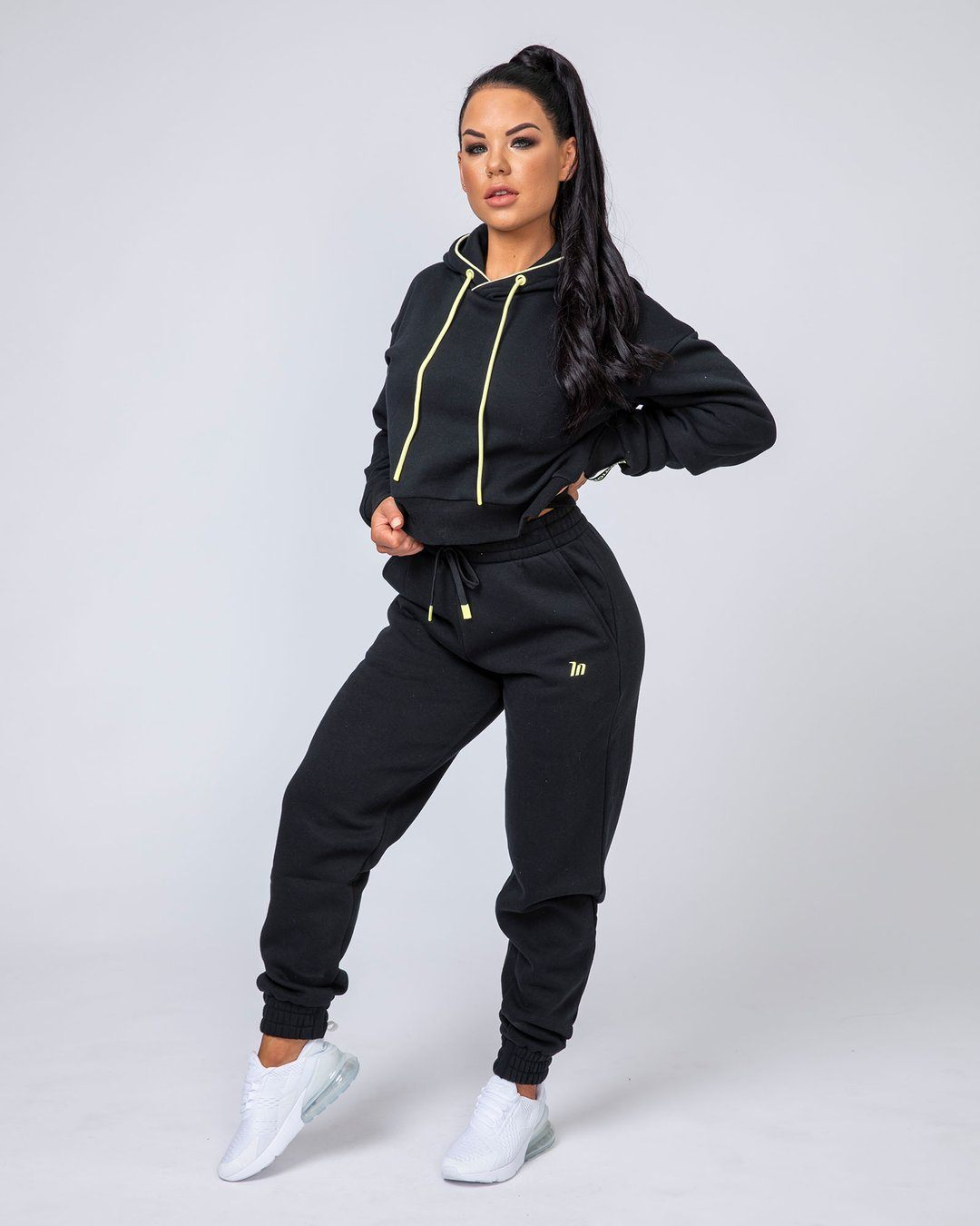 Muscle Nation Warm-Up Tracksuit Set - Black