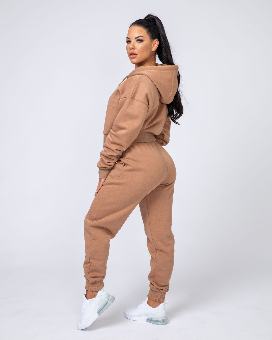 Muscle Nation Warm-Up Tracksuit Set - Latte
