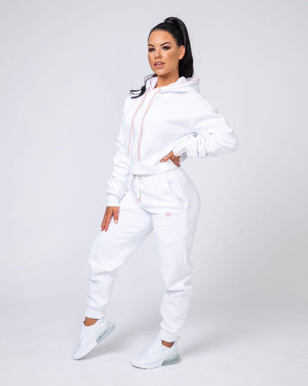 Muscle Nation Warm-Up Tracksuit Set - White