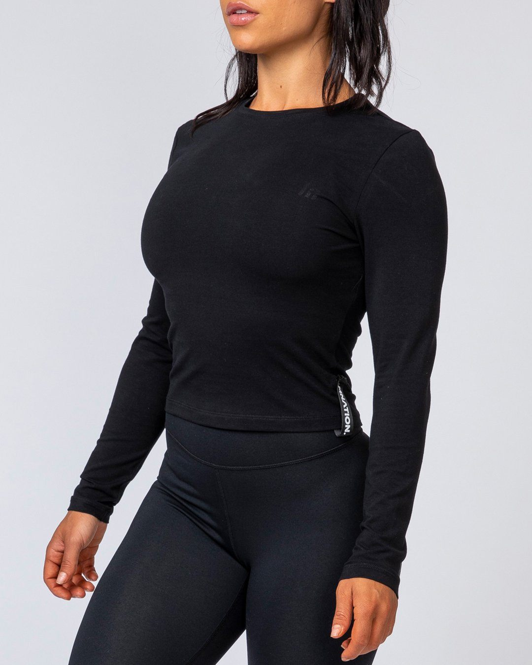Muscle Nation Women's Long Sleeve - Black