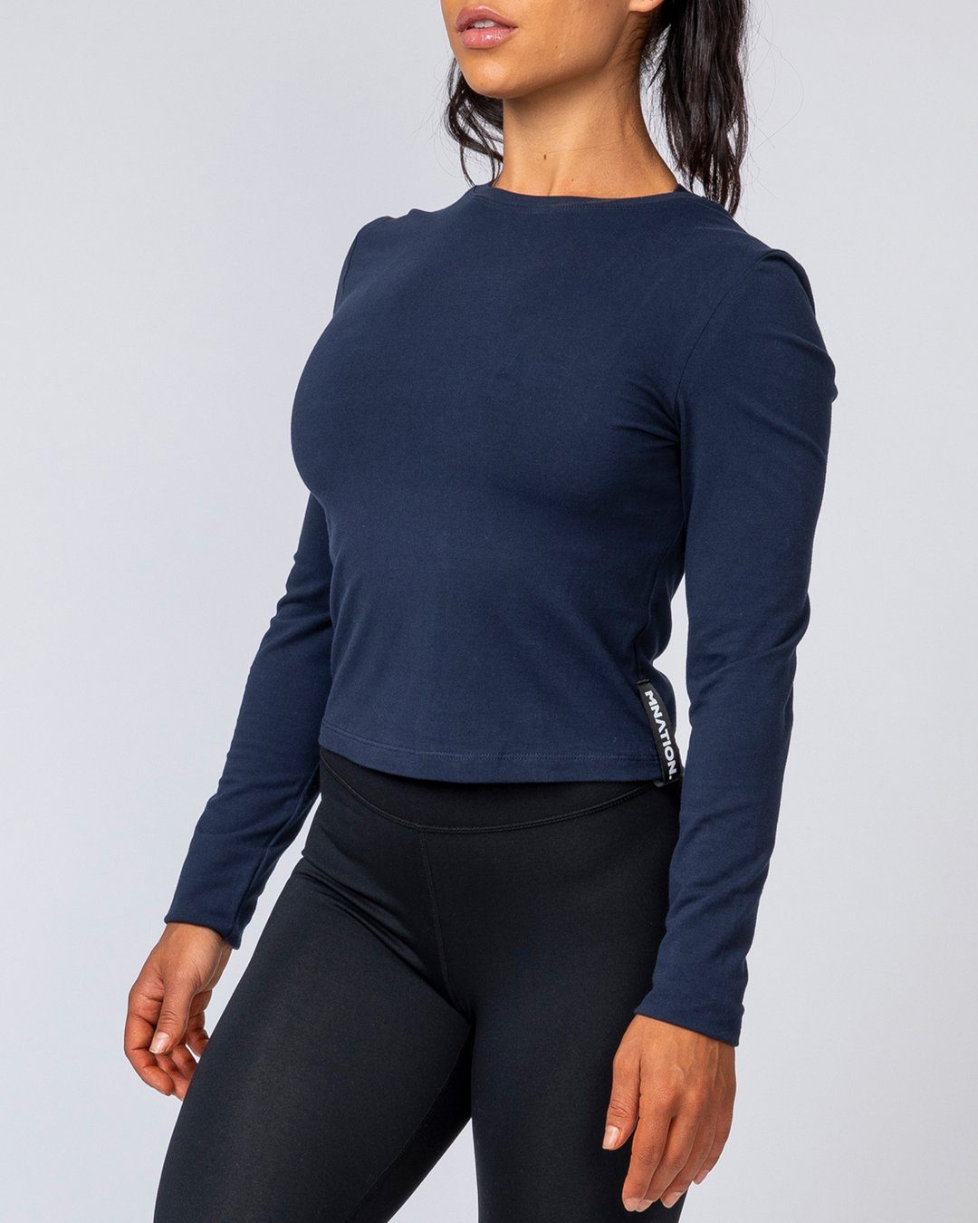 Muscle Nation Women's Long Sleeve - Navy