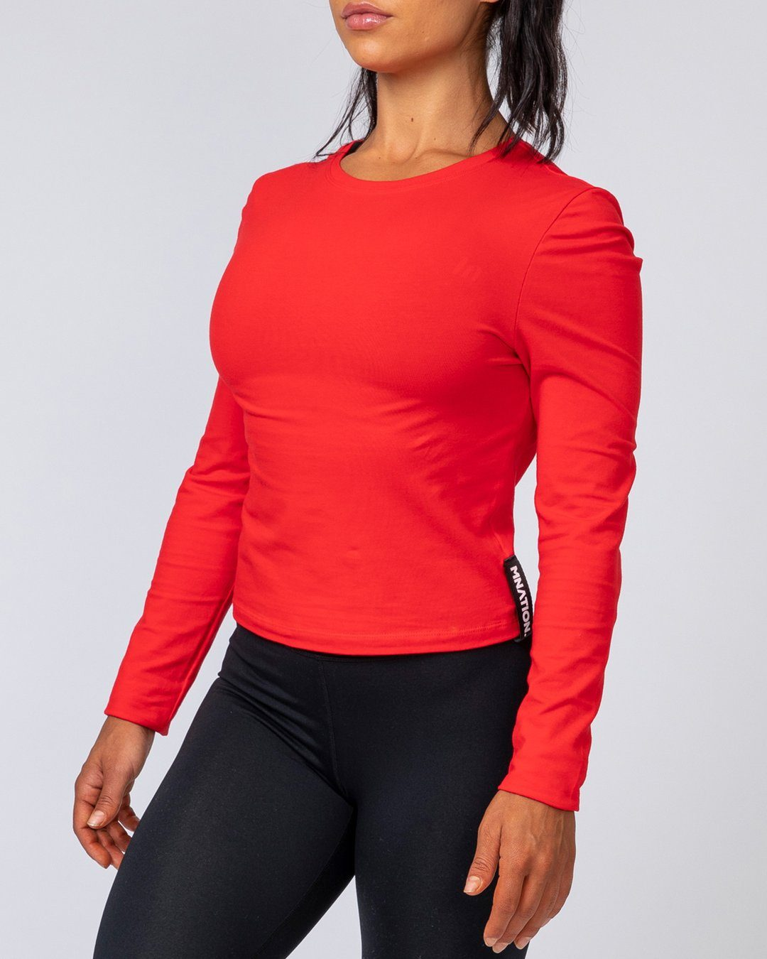 Muscle Nation Women's Long Sleeve - Red