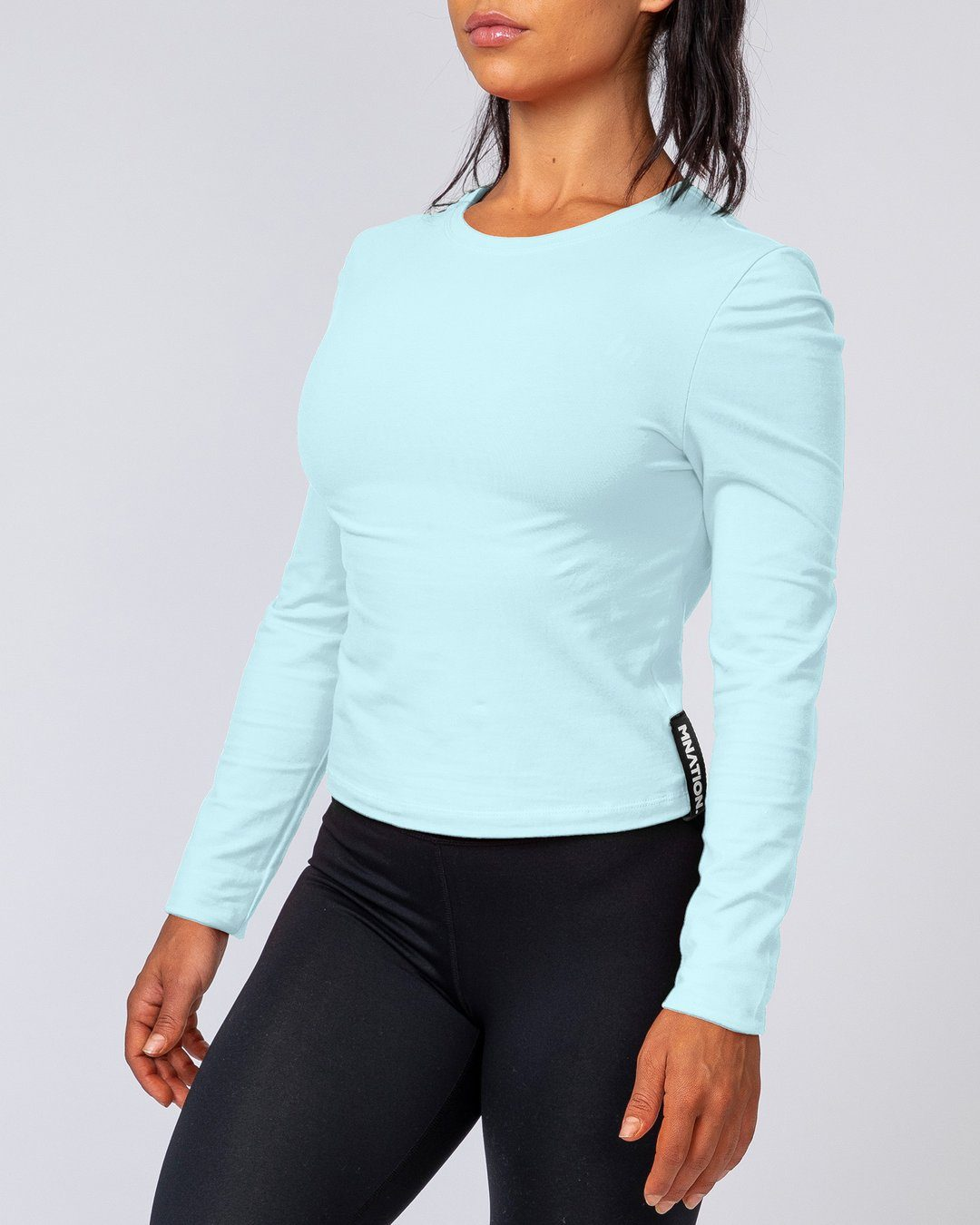 Muscle Nation Women's Long Sleeve - Sky Blue