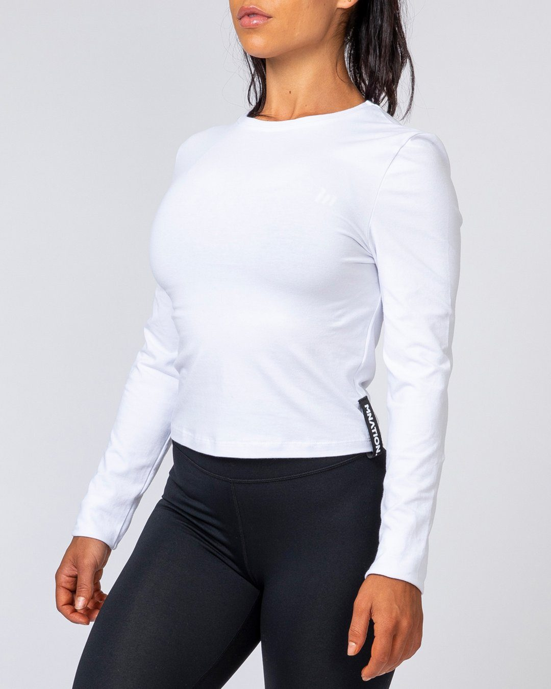 Muscle Nation Women's Long Sleeve - White
