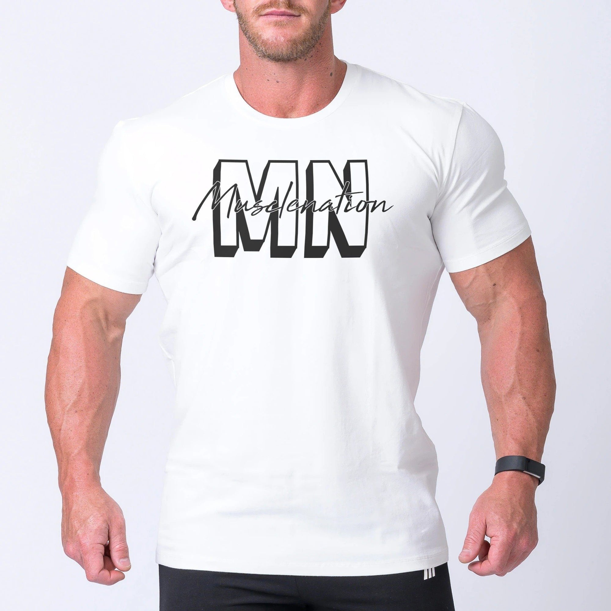 Muscle NationCasual MNxSignature Tee - White
