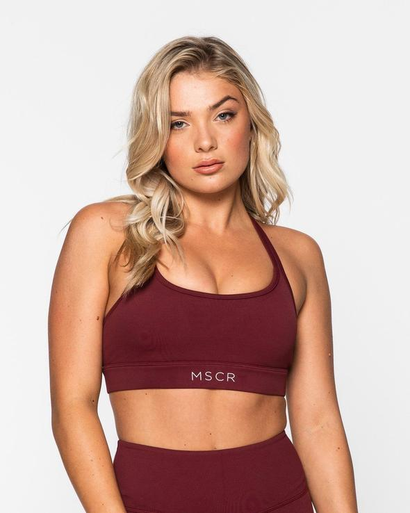 Muscle Republic ISLA SPORTS BRA BURGUNDY