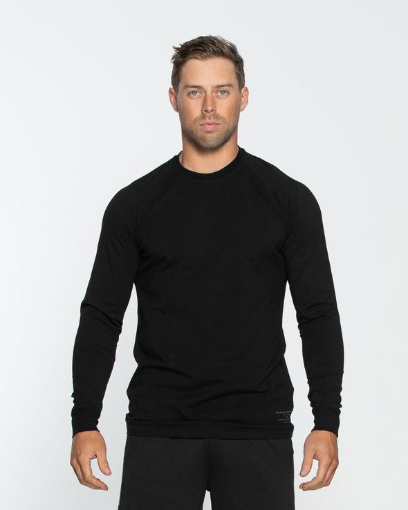 Muscle Republic MEN'S CREED LONG SLEEVE - Black