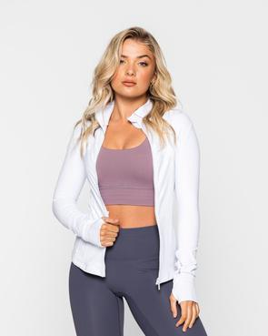 Muscle Republic Performa Zip Up Jacket White