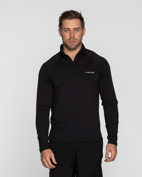 Muscle Republic VELOCE 1/4 ZIP PULLOVER - Black