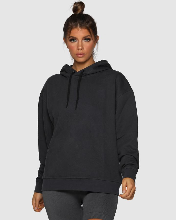 Nicky Kay Branded Oversize Hoodie - Charcoal