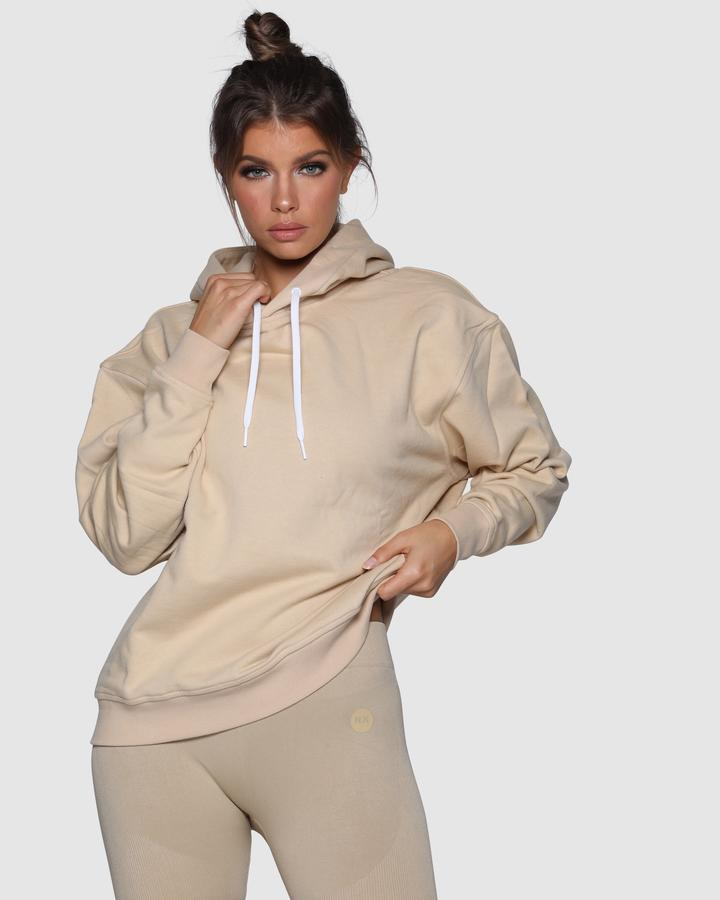 Nicky Kay Branded Oversize Hoodie - Cream