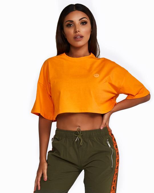Nicky Kay Cropped Tee - Orange
