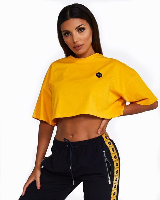 Nicky Kay Cropped Tee - Yellow