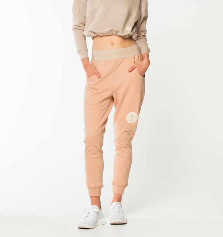 Nicky Kay GoalDigger Sweatpants - Blush w/ Creme Waistband