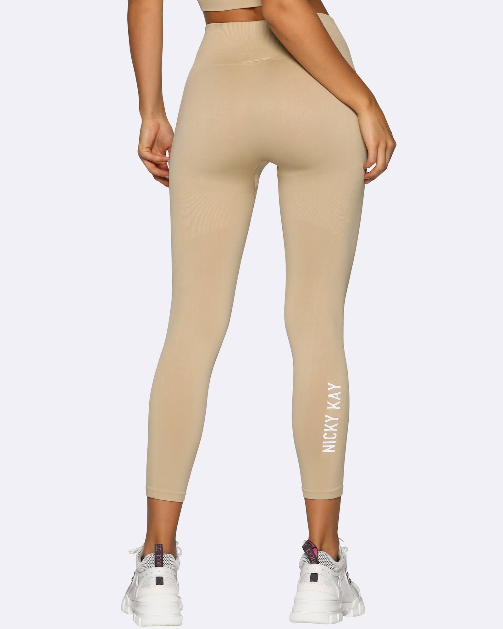 Nicky Kay Seamless 7/8 Tights - Cream