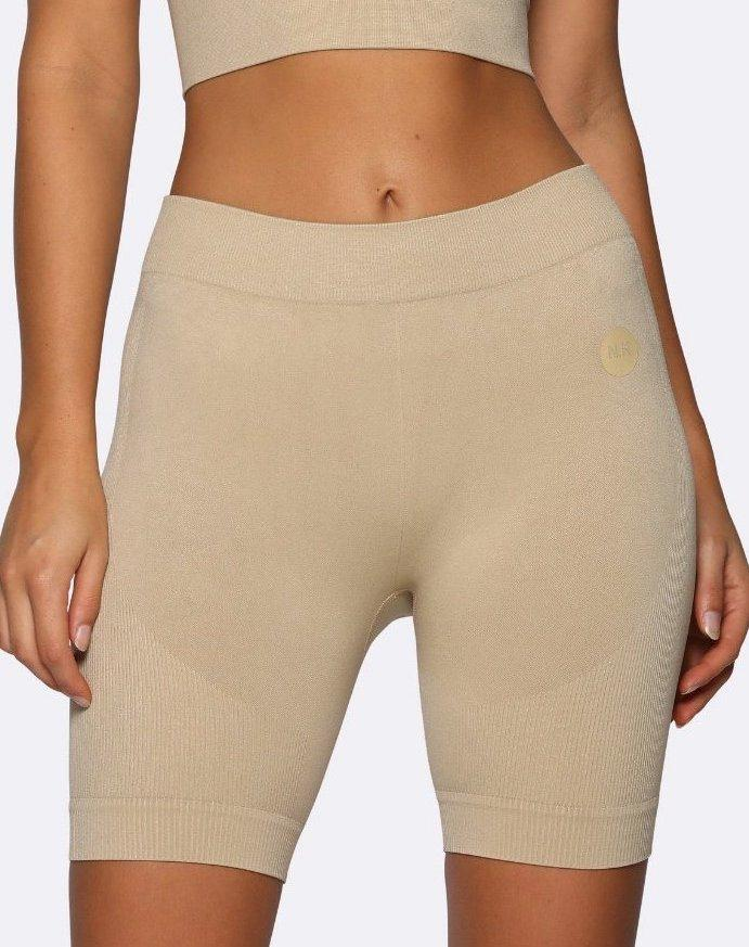 Nicky Kay Seamless Bike Shorts - Creme