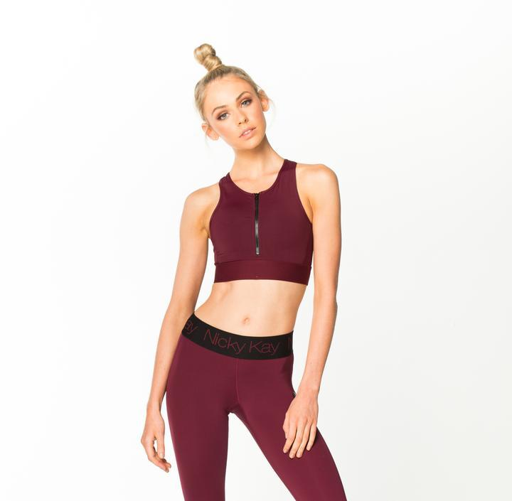 Nicky Kay SheHustles Crop Top - Burgundy